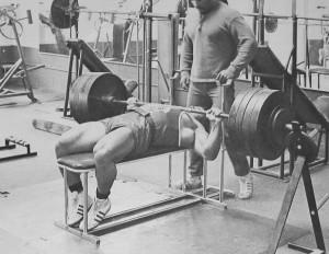 old school bench press