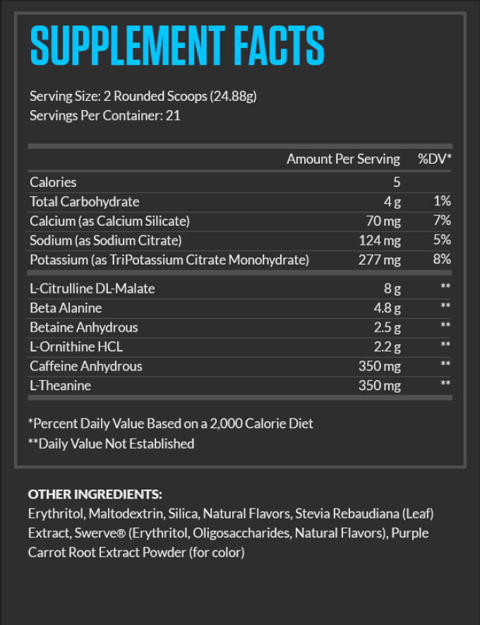 Legion Pulse Review Ingredients