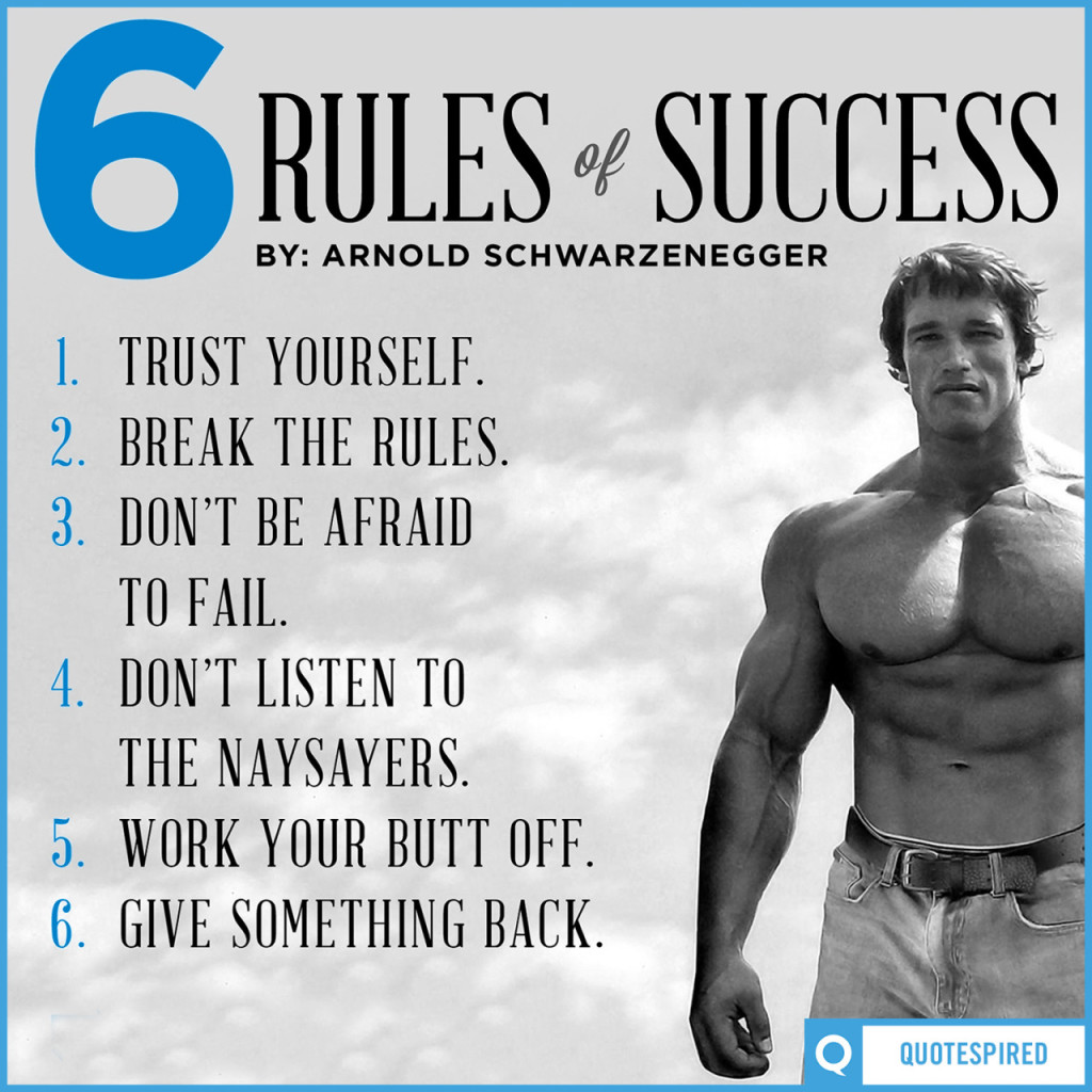 Arnold 6 rules