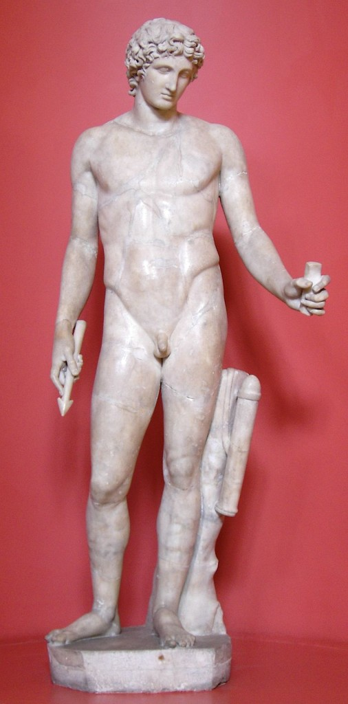 """Apollo (the """"Adonis"""" of Centocelle) rockin' his clearly visible Adonis belt."""