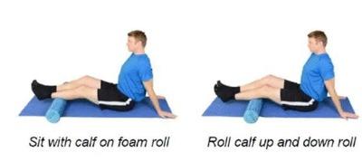 Foam Rolling Calf