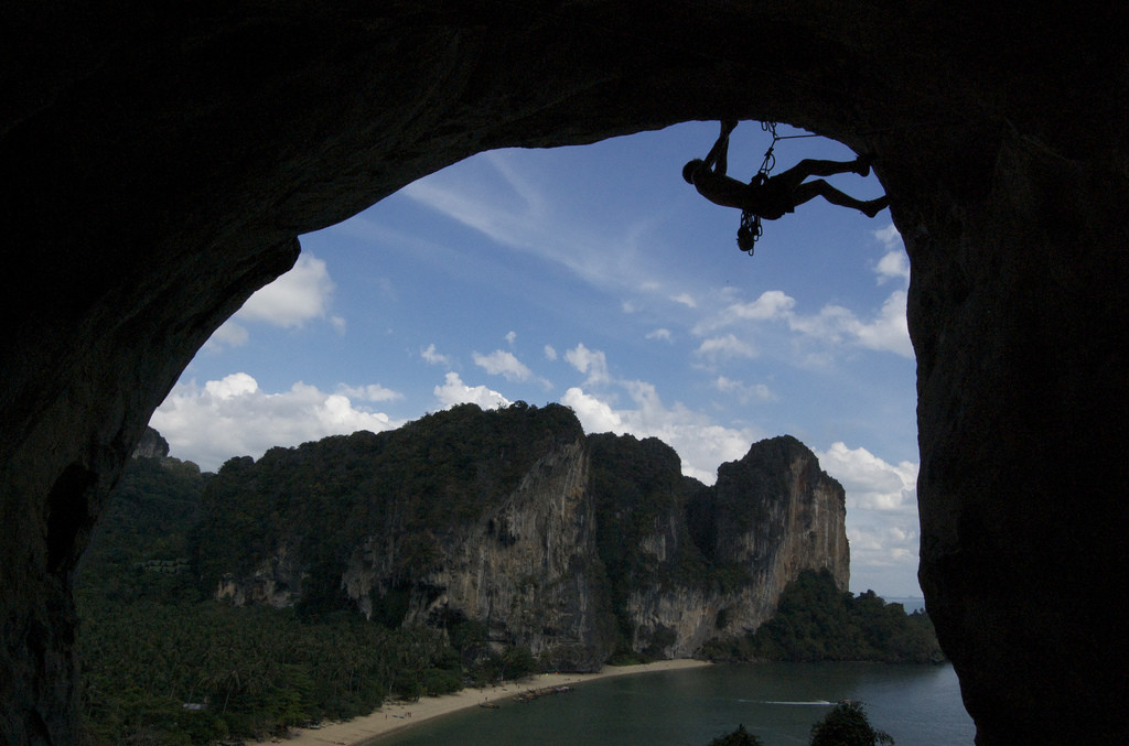 Rock Climbing Scene