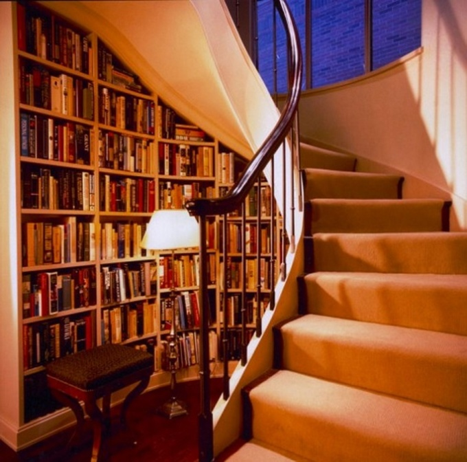 excellent-design-bookshelf-under-stairs-luxury-photos