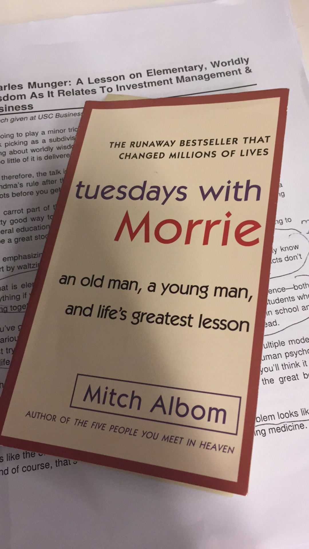 Tuesdays With Morrie Review Lessons On Life Ignore Limits