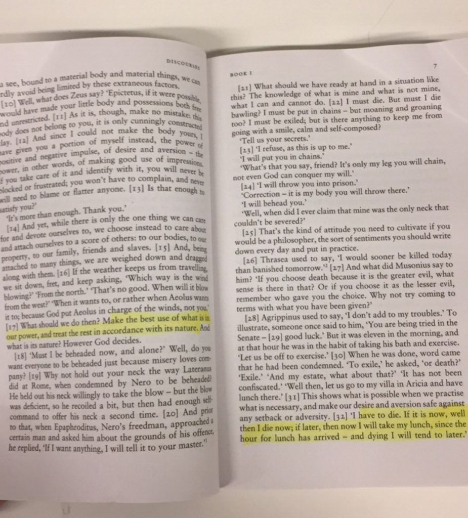 epictetus the handbook summary