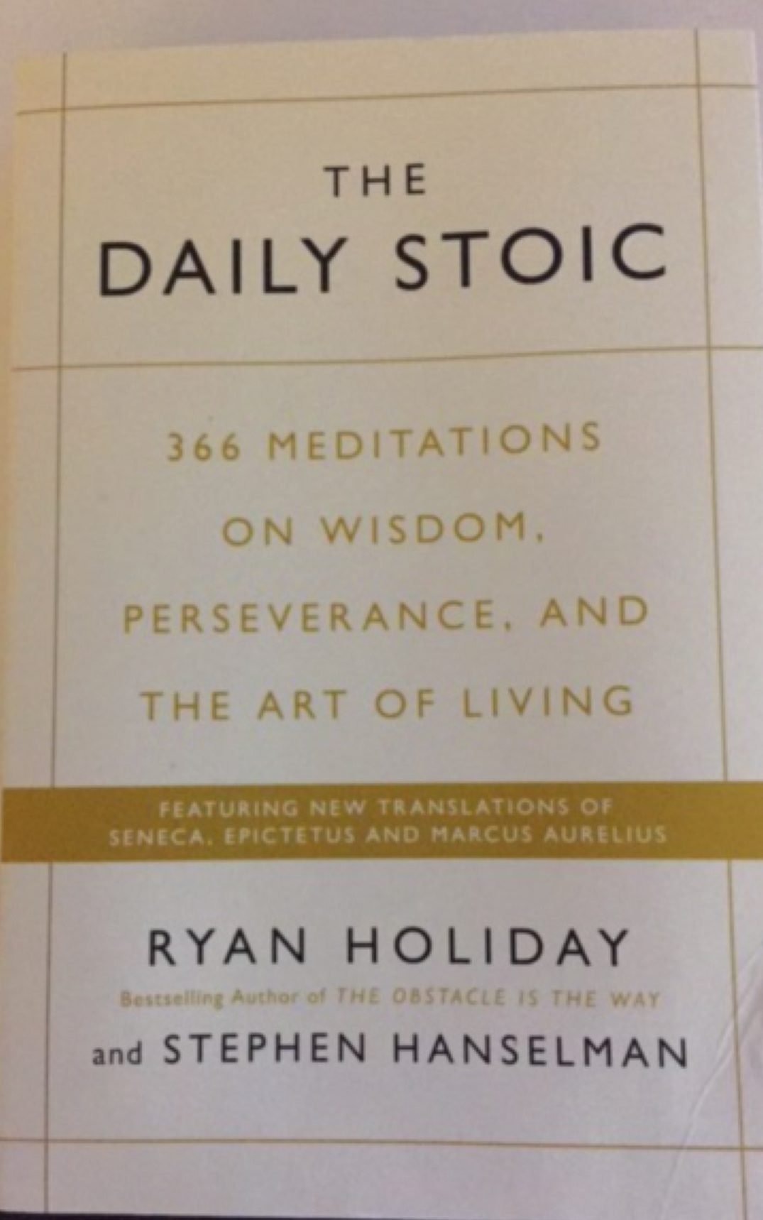 the daily stoic ryan holiday pdf