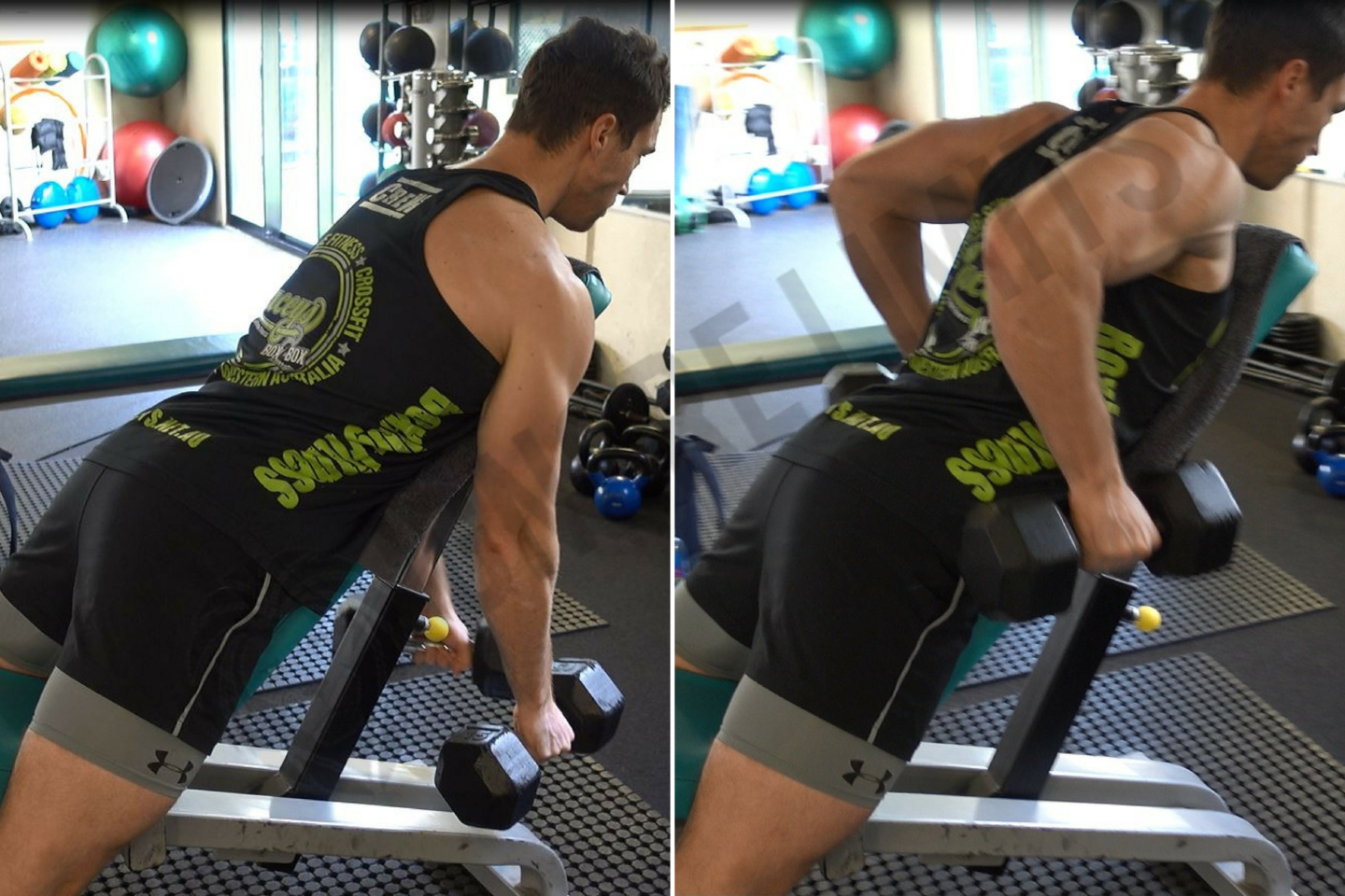 How To Incline Bench Dumbbell Row Ignore Limits