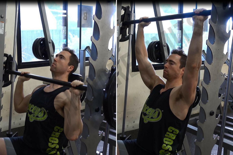 How To Smith Machine Shoulder Press